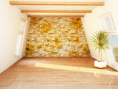 Beautiful attic room — Stock Photo