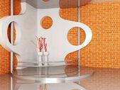 2 つの花瓶は、表彰台に立っています。 — ストック写真