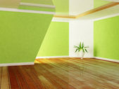 зеленое растение в комнате — Стоковое фото