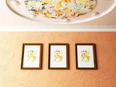 Zajímavý strop a fotografie — Stock fotografie