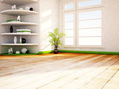 Many shelves in the room — Stock Photo