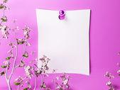 романтический примечание на стене — Стоковое фото