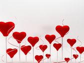 Krásné romantické pozadí s mnoha srdcí — Stock fotografie