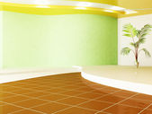 Green plant in a room — Foto de Stock