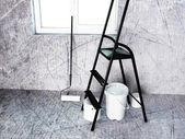 Opere nella sala di riparazione — Foto Stock