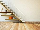 Utilizando un espacio debajo de la escalera — Foto de Stock