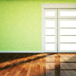 A big window in the empty room — Stock Photo