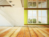 Empty room with the stairs — Stock Photo