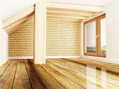 Oda maruz kiriş ve pencere — Stok fotoğraf