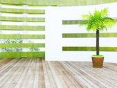Green plant near the septum — Stock Photo