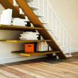 Using the space under the stairs — Stock Photo #25480849