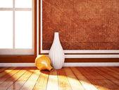 две красивые вазы в интерьере — Стоковое фото