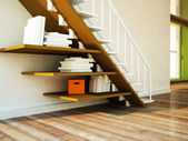 Using the space under the stairs — Stock Photo