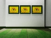 Beautiful paintings on the wall — Stock Photo