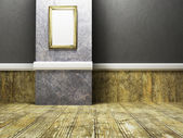 Empty room the picture, — Stock Photo