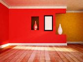花瓶と空の部屋 — ストック写真