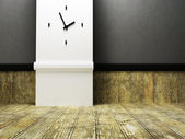 The clock on the wall — Foto Stock