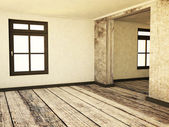 Empty room in grunge colors — Stock Photo
