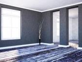 Ett rum färger i kontrast — Stockfoto