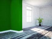 Zelené rostliny v prázdné místnosti — Stock fotografie