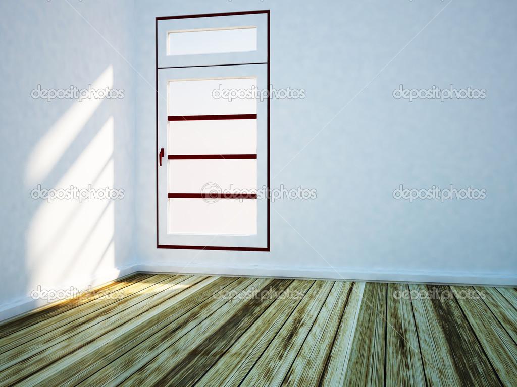 wei er raum mit einem gro en fenster stockfoto 39363279. Black Bedroom Furniture Sets. Home Design Ideas
