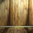 Room with a wooden trim — Stock Photo