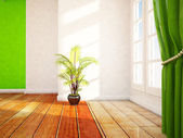 A   window and the plant — Foto Stock