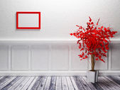 A red plant is standing — Stock Photo