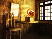 木製のトリムとの部屋 — ストック写真