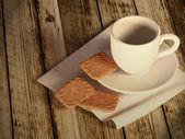 Taza de té y galletas — Foto de Stock