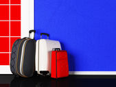 bags are standing  at the door — Stock Photo