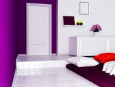 Bedroom with a podium — Stock Photo