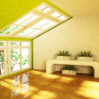 Room with the green plants — Stock Photo #50931659