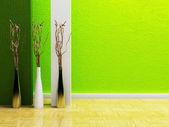 在房间里的三个花瓶 — 图库照片