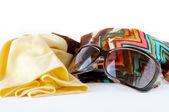 メガネと明るいスカーフ — ストック写真