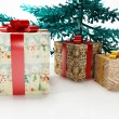 Christmas tree and the gifts — Stock Photo #7893931