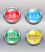 Four buttons — Stock Vector