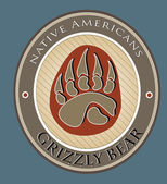 Grizzly bear — Vecteur