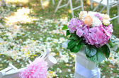 Flowers on the wedding — Stock Photo