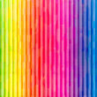 Painted Rainbow Wall - Stock Photo