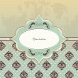 Decorative background - vintage design for card — Vektorgrafik
