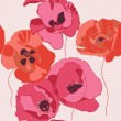 Seamless background with poppies flower — Vector de stock