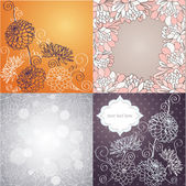 Vector set of card designs. — Stock Vector
