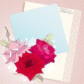 与玫瑰花卉矢量图. — 图库矢量图片