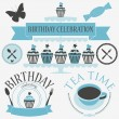 Vector set of birthday icons — Stock Vector