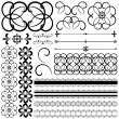 Vector collection of ornamental design elements and objects. — Stock Vector