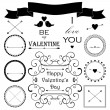 Valentine's day vintage design elements — Stock Vector