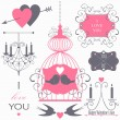 Design elements for valentine's day — Image vectorielle