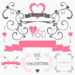 Valentin's day elements and signs — Stock Vector #31263883