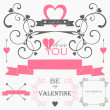 Valentin's day elements and signs — Stock Vector